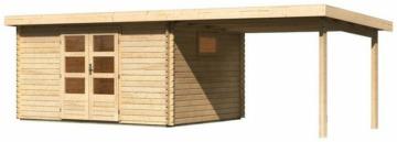 WOODFeeling Gartenhaus »Trittau 5«, BxT: 576x333 cm, (Set), mit Anbaudach